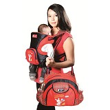 CHINTAKA Gendongan Ransel Dwi Fungsi + Saku Bordir Aplikasi Kotak [CBG 530300N] - Red Navy - Carrier and Sling